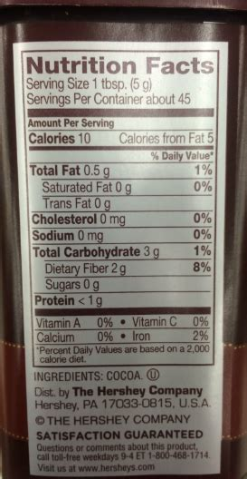 Food in the Spotlight - Cocoa Powder - Bariatric Weight