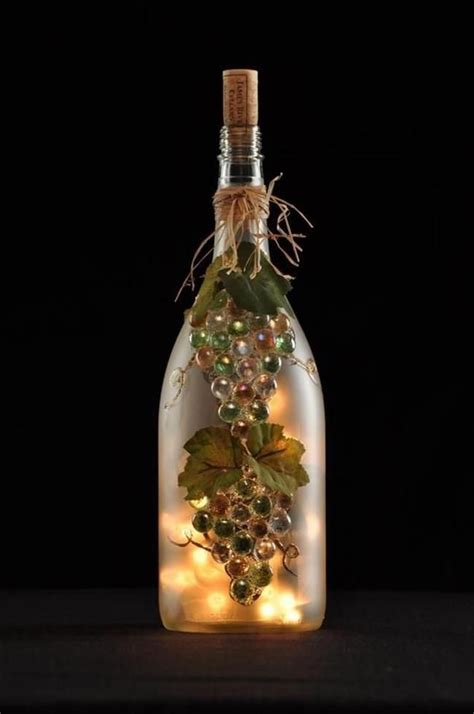 wine bottle crafts with lights craft ideas