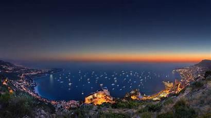 Monaco Landscape 4k Ultra Ocean Sunset Bing