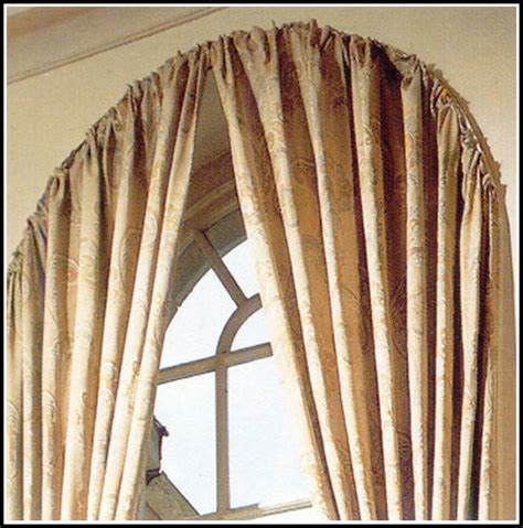 double curved window curtain rod curtains home design