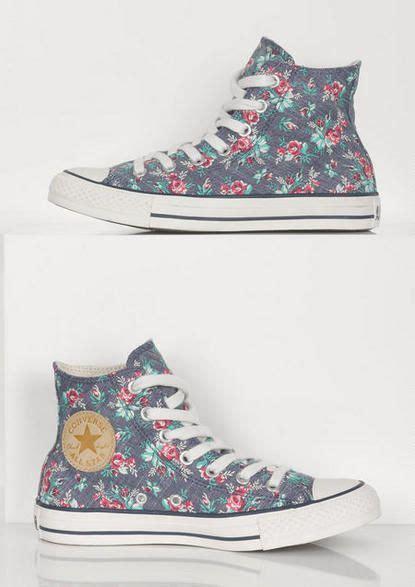 converse floral  tops style converse shoes shoes