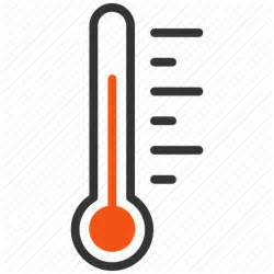 what does a thermometer icon in the weather channel instrument measure meter temperature