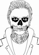 Colouring Horror Ahs Stories Coloring Tate Evan Drawing Peters Sheets Drawings Tattoo Adult Coven Visit Anime Uploaded User sketch template