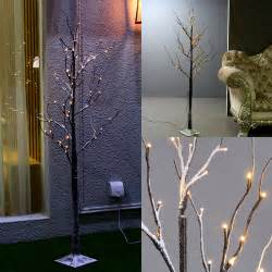 Lighted Twig Trees for Outdoors