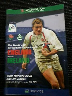 2002 ENGLAND V IRELAND TRIPLE CROWN 6 NATIONS ...