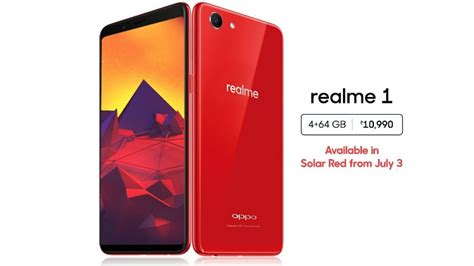 realme 1 4gb ram variant now available in solar colour technology news