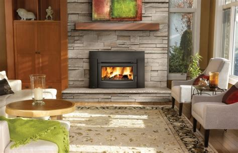 Fireplace Thermal Switch by Napoleon Epi3c Wood Burning Contempory Black Front