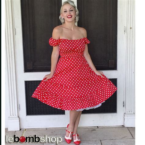 50er Stil by 50s Style White Polka Dots Pinup Peasant Top On