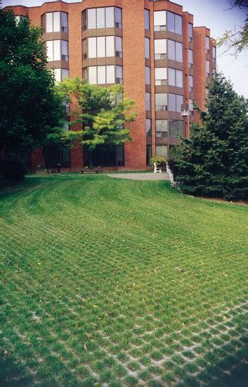 unilock turfstone grass growing through turfstone permeable paver by unilock