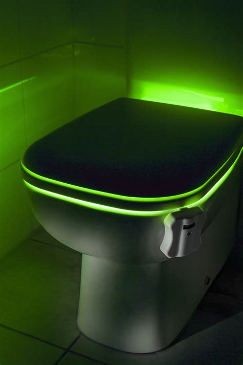 toilet bowl light auraglow led motion activated toilet bowl light
