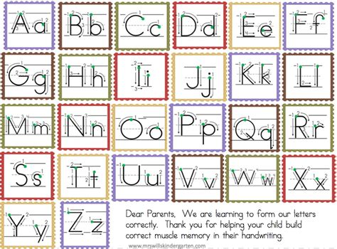 letter formation chart  writing center preschool