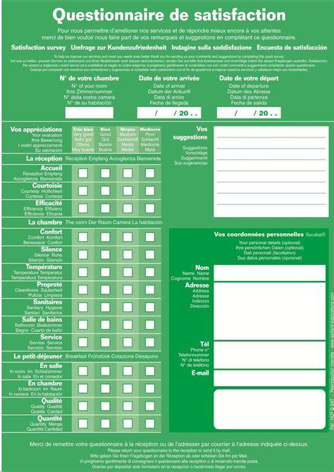 questionnaire de satisfaction client magasin questionnaire de satisfaction guillard htel panneaux de consignes consignes securite