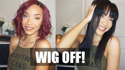 Hair| Wig Off! Burgundy Bob Vs. Straight Bangs (lace Wigs