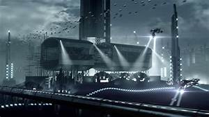 Animated Fleet Of Futuristic Spaceships And An Impressive ...