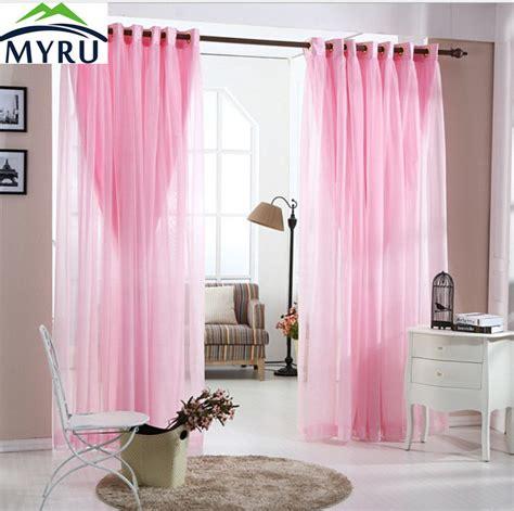 pink curtains for bedroom myru pastoral lace curtains living room bedroom 16737