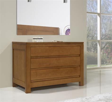 commode contemporaine chambre commode 3 tiroirs en chêne massif de style contemporain