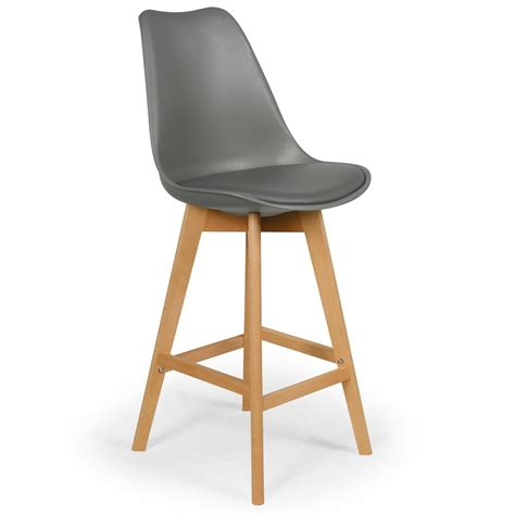 chaises hautes cuisine chaise haute scandinave orna gris lestendances fr