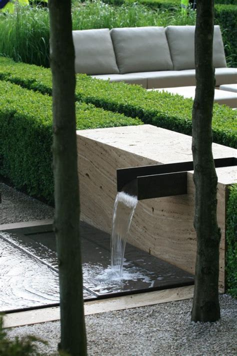 landscape design ideas modern garden water features