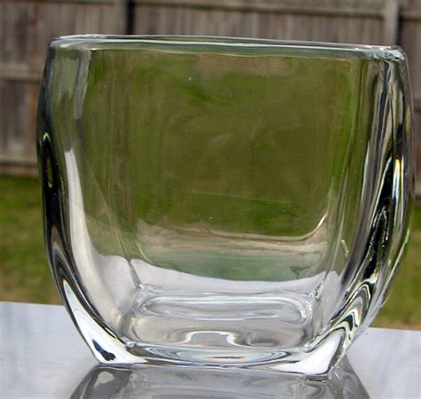 Glass Urn Vase by Contemporary Clear Glass Vase Ebay