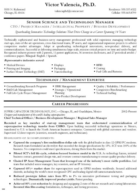 Technical Resume Format by Chief Technical Officer Resume