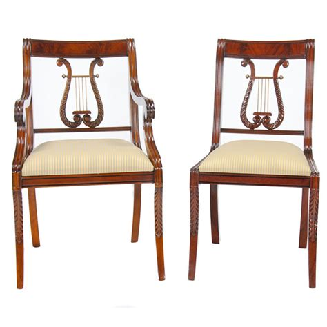 lyre chair or harp back chairs niagara furniture set of 10