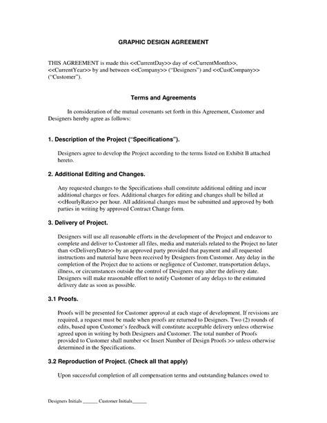 graphic design contract agreement qualads