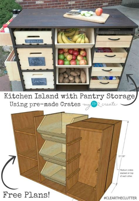 woodworking plans kitchen island build an awesome kitchen island with pantry storage with