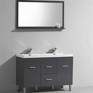 Meuble de salle de bain double vasque avec pied for Meuble vasque salle de bain avec pied