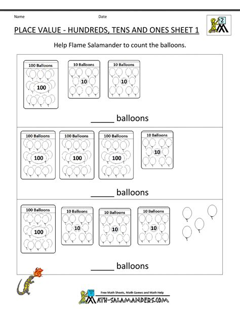 place value practice worksheets kidz activities