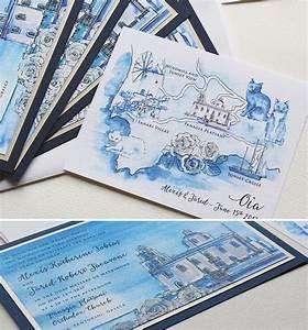 hand painted greece destination wedding invitesmomental With greece destination wedding invitations