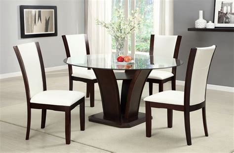 manhattan ii contemporary dark cherry casual dining set