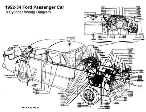1952 Chevy Sedan Turn Signal Wiring Diagram by Wiring Diagram For 1952 54 Ford 8 Cyl Wiring Diagram