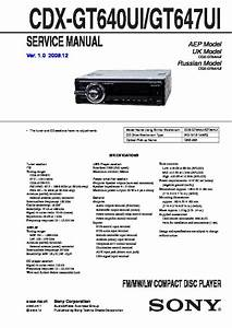 Sony Cdx M610 Wiring Diagram