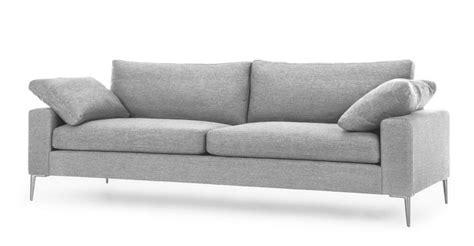 light gray sofa  seater  metal legs article nova modern furniture   sofas sleepers sectionals modern grey sofa gray sofa sofa