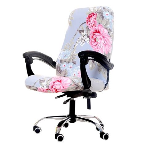 Office Chairs Covers by 1 Pcs Pastoral Printed Computer Arm Chair Cover Spandex