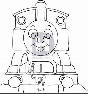 How to draw thomas the tank engine step by step pbs for Thomas pumpkin template