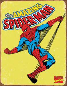 country and primitive wall decor spiderman vintage tin sign