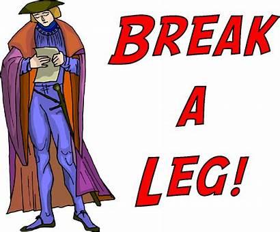 Break Leg Theatre Clipart Legs Cast Crew