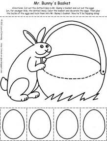 Easter Cut and Paste Printables