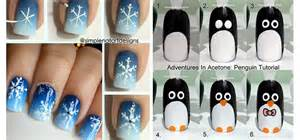 By step winter nail art tutorials  for beginners learners