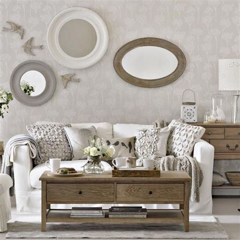 Living Room Wallpaper Neutral by Amazing Neutral Traditional Living Room Design With Wooden