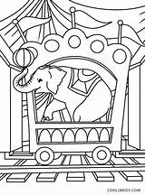 Coloring Circus Pages Train Printable sketch template