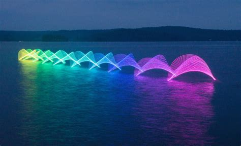 color in motion kayak paddle stroke led motion exposure photography by
