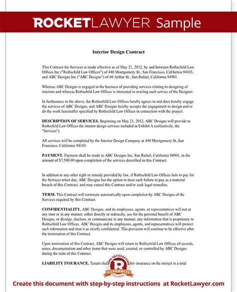 interior design contract template interior design contract agreement template with sle