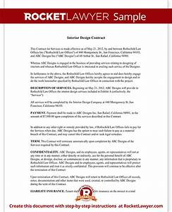 interior design contract agreement template with sample With interior decorating contract