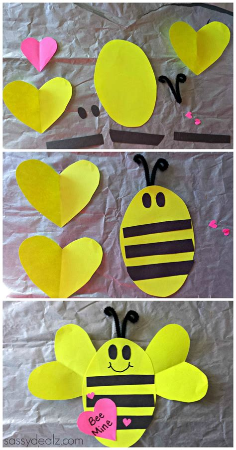 quot bee mine quot valentines day craft for valentines card 315 | 106bfddc084d4e1c4fe9b98915dbec08