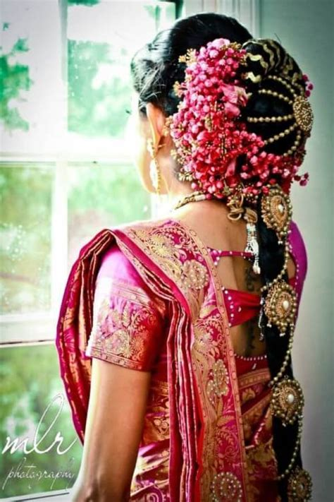 amazing pics  south indian bridal hairstyles  weddings
