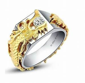 popular white gold mens ring buy cheap white gold mens With dragon ball z wedding ring for men