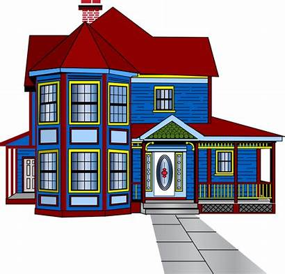 Clipart Clip Houses Row Victorian Townhouse Mansion