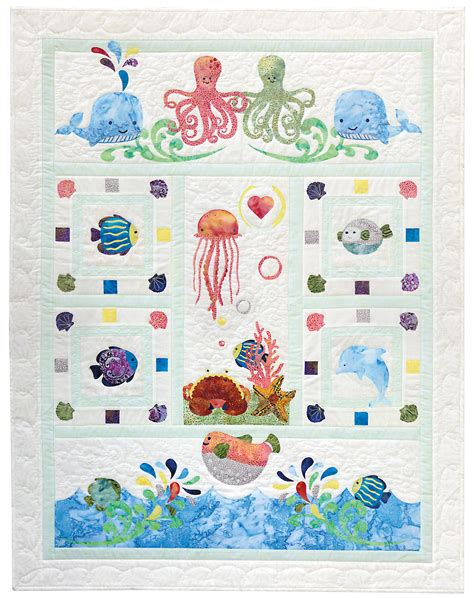 quilting applique patterns wee sea baby quilt pattern